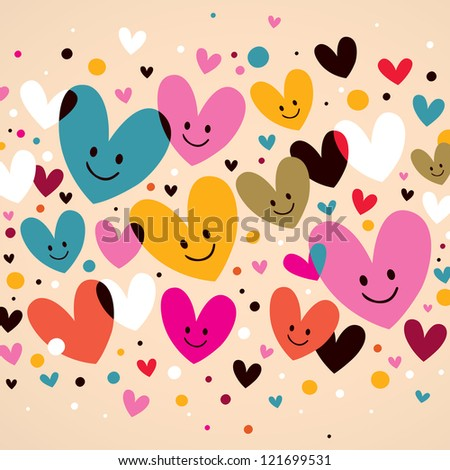 hearts background - stock photo