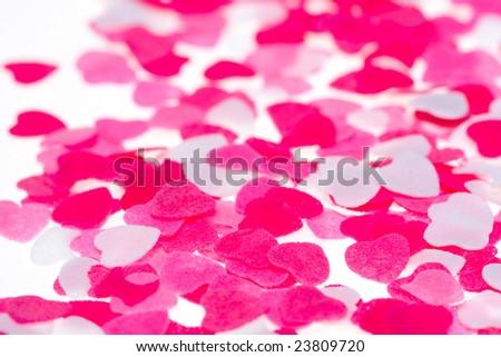 Hearts background - stock photo