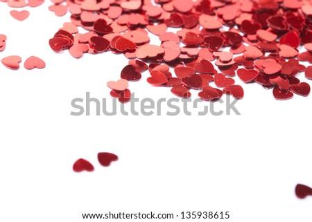 hearts confetti - stock photo