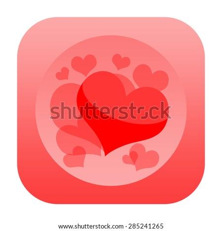 Hearts design - stock photo