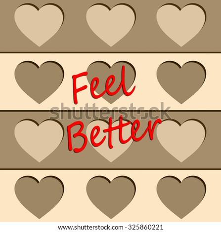 Hearts - Feel Better - stock photo