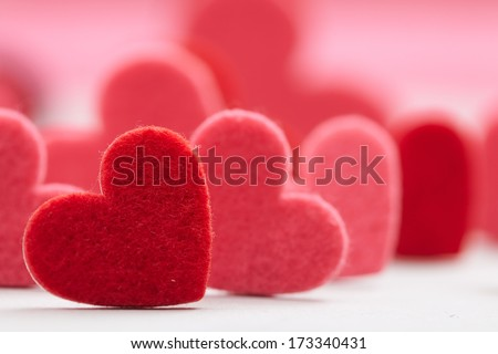Hearts for Valentine's day - stock photo