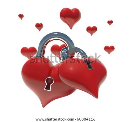 hearts lock stock illustration 60884116 shutterstock