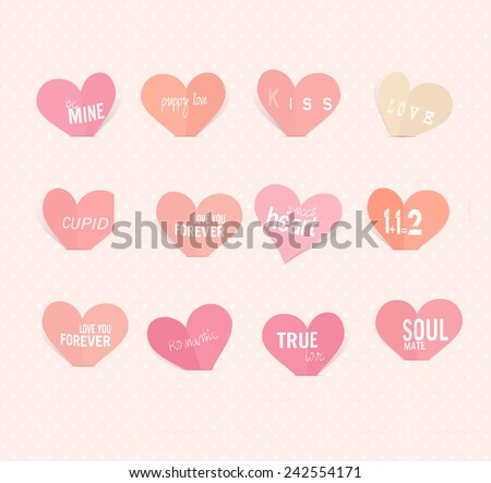 Hearts of Valentine's day, background for valentine's day.  - stock photo