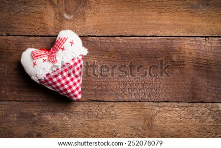 hearts on wood - stock photo