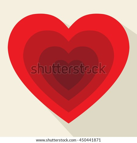 Hearts Pattern Representing Valentines Day And Artwork - stock photo