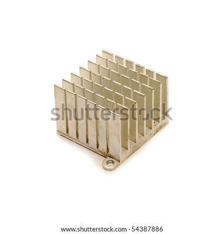 heat sink isolated - stock photo