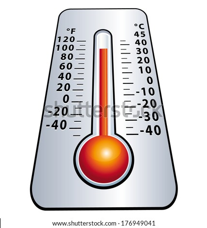 Heat wave. High level mercury thermometer.