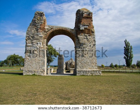 Heathen of the ancient Roman settlement in Austria Carnuntum