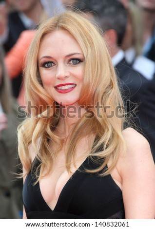 Heather Graham arriving for 'The Hangover Part III' European Premiere, London. 22/05/2013