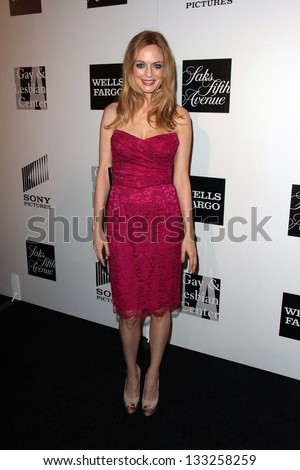 Heather Graham at the L.A. Gay And Lesbian Center Hosts 'An Evening' honoring Amy Pascal and Ralph Ricci, Beverly Wilshire, Beverly Hills, CA 03-21-13 - stock photo