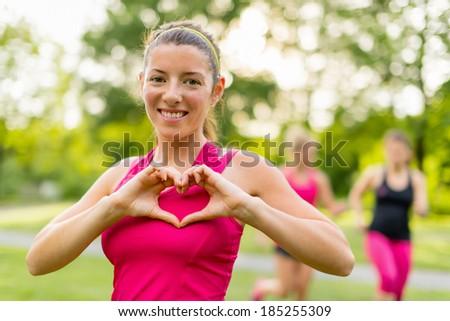 heathy heart through regular workouts - stock photo