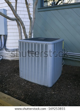 Heating and air conditioning residential unit - stock photo