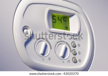 Heating boiler control panel - stock photo