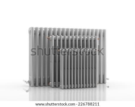 Heating radiators - 3D Render - stock photo