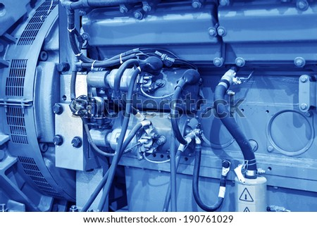 heating system equipment in a boiler room