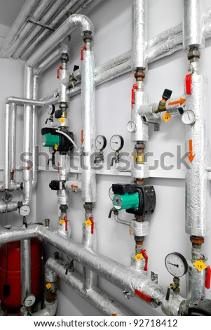 Industrial plant room stock images royalty free images for Room heating system