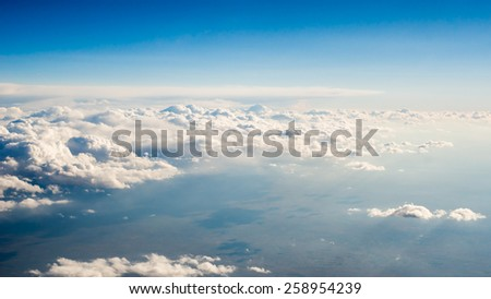 Heaven and Earth Sky Above Cloud - stock photo