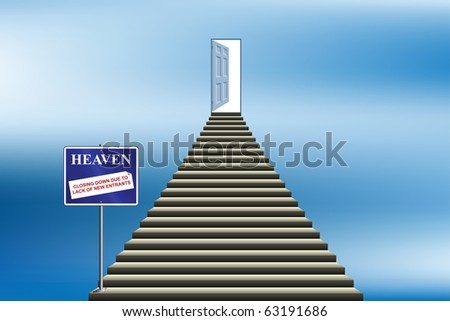 Heaven closing down due to lack of new entrants - stock photo