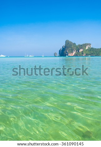 Heaven Getaway Sea Scene  - stock photo