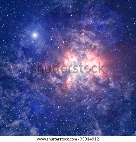 Heaven nebula - stock photo