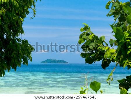 Heaven On Earth Blue Paradise  - stock photo