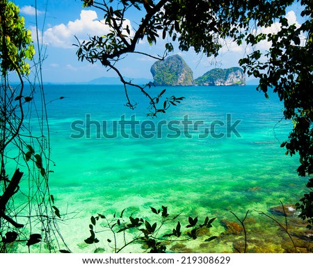 Heaven On Earth Nature And Nobody  - stock photo