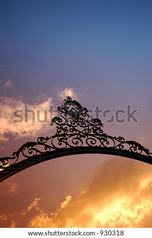 Heaven's door - stock photo