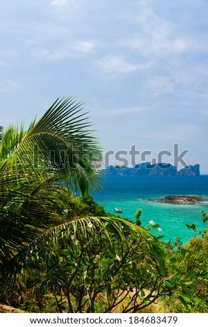 Heaven Seascape Exotic Backdrop  - stock photo