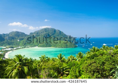 Heaven Seascape Vacation Wallpaper  - stock photo
