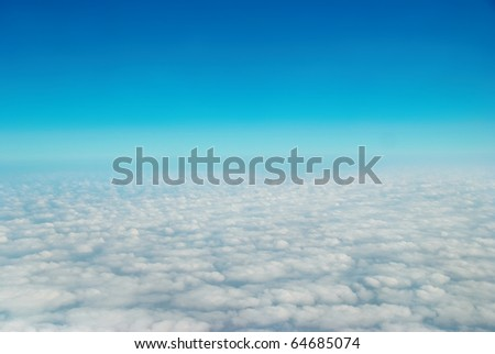 Heaven, sky and clouds. View from the above - stock photo