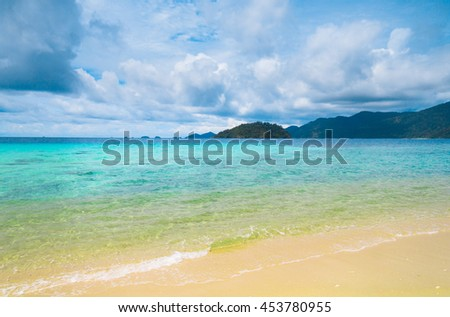 Heavenly Blue Lagoon Landscape  - stock photo