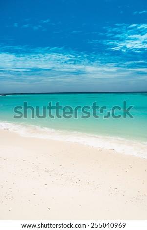 Heavenly Blue White Sands  - stock photo