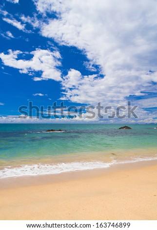 Heavenly Blue Windy Holiday  - stock photo