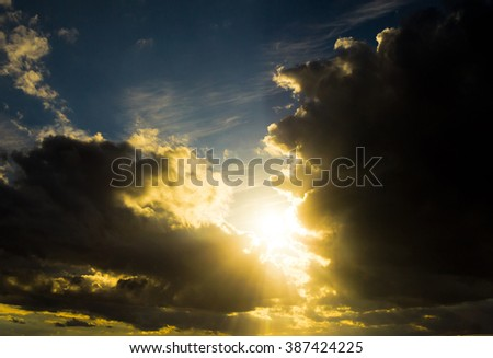 Heavenly Scene Spectacular Cloudscape
