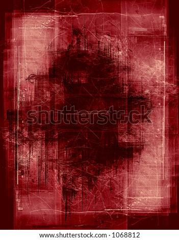 heavily layered frame - stock photo