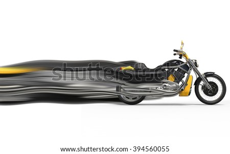 Heavy bike - speed trails - stock photo