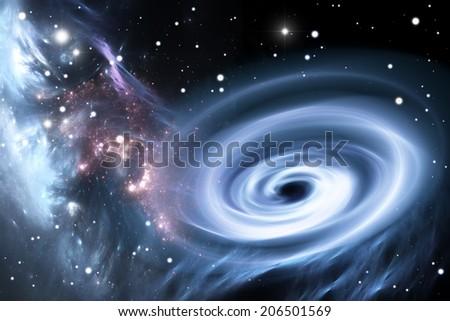 Heavy black hole. - stock photo