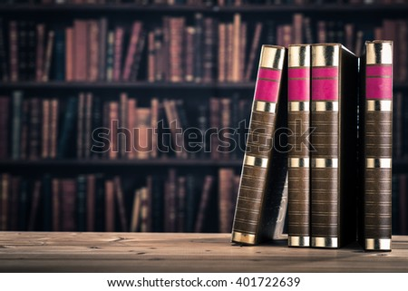 Heavy book - stock photo