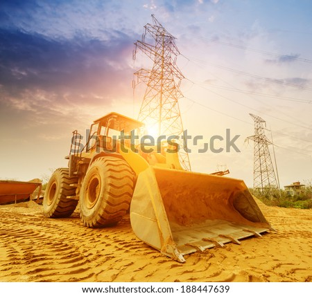 Heavy Bulldozer - stock photo