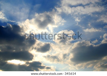 heavy clouds - stock photo