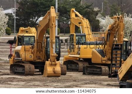 Heavy Construction Equipment - stock photo