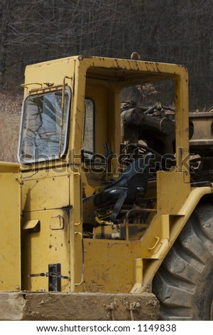 Heavy Construction Equipment Cabin - stock photo