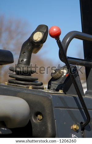 Heavy Construction Equipment Controls - stock photo