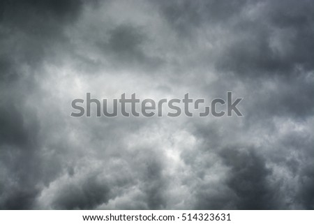 Heavy dark clouds before storm