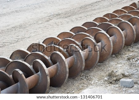 Heavy Drilling Machinery as Construction Site Equipment - stock photo