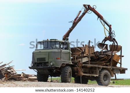 Heavy dump truck. - stock photo