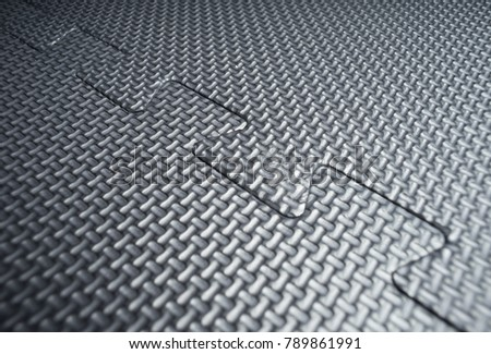 Heavy Duty Black Rubber Flooring Tiles Stock Photo Edit Now - How to clean black rubber gym flooring