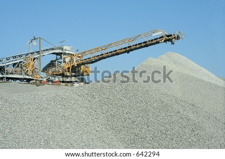 heavy duty machine at a stone-quarry.