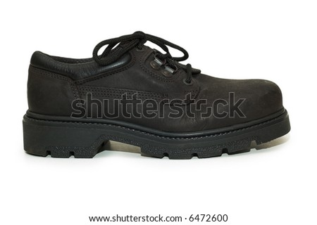 Heavy-duty shoe isolated on the white background - more similar photos in my portfolio - stock photo